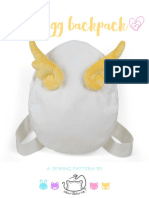 Egg Backpack Sewing Pattern