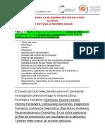 Estructura Del Caso Clínico Considerando Las Partes de La Historia Clínica Ps