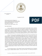 2018-12-20 Gov. McMaster to J. Brogdon Re Criminal Defense Attorneys Enc AG's Opinions
