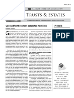 George Steinbrenner's Estate Tax Home Run, Kolasa, ISBA Trusts & Estates Newsletter Oct. 2010