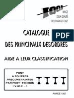 Catalogue des principaux désordres