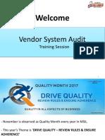 MSIL Training on VSA Check Sheet