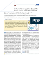 Economical Green Synthesis of Fluorescent Carbon N