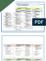 1.Matrices Contenidos Program 2018 Rosario