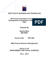58224034 HR Process and Impact of Training and Development on Employee s Performance at PSO