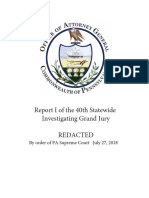 A Report of the 40th Statewide Investigating Grand Jury