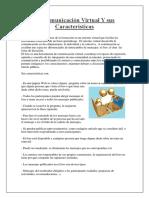La Comunicación Virtual Y Sus Características