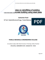 Literature Review on Retrofitting of Existing Reinforced Concrete Building Using Steel Plate