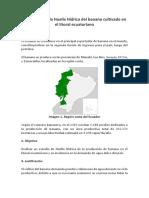 Evaluación de La Huella Hídrica Del Banano Cultivado en El Litoral Ecuatoriano