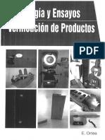Libro Metrologia y Ensayos Verificacion de Productos Autor E. Ortea
