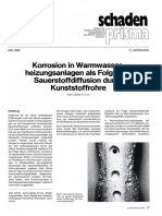 Korrosion in Warmwasser