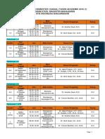 Jadwal Semester i Angkatan Xiii September 2016