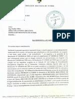 Carta de la Comisión Técnica de la División Profesional sobre caso Universitario.