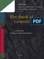 (Supplements to Vetus Testamentum 152) Craig A. Evans, Joel N. Lohr, David L. Petersen (eds.)-The Book of Genesis_ Composition, Reception, and Interpretation-Brill (2012).pdf