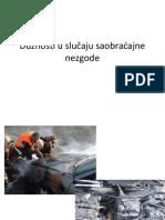 Dužnosti u Slučaju Saobraćajne Nezgode