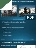 Techniques d'Excavation Et de Fragmentation Des Roches