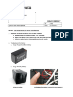 Report on the 7AH Backup Battery for Access Control System