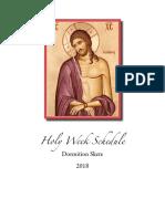 Holy Week Schedule 2018
