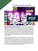 Kumpulan Situs Domino QQ Online Terbaru 2019