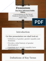 Gender & Feminism as relates to Public Policy
