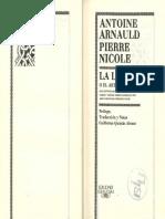 ARNAULD a. & NICOLE P. - Lógica o Del Arte de Pensar - Alfaguara