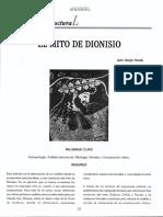 El mito de dionisio