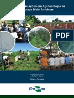 Trajetória Das Ações Em Agroecologia Na Embrapa Meio Ambiente