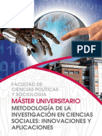 MÁSTER UNIVERSITARIO Metodologia de La Investigacion en Las Ciencias Sociales