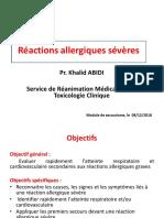 Réactions allergiques sévères