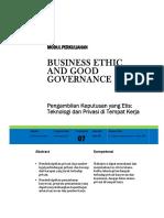 Modul 7 Pengambilan Keputusan Etis- Teknologi Privasi Di Tmpt Kerja