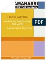 1.Linear Algebra Previous Year Questions From 2017 to 1992