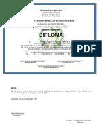 Diploma de Tercero Reposición 2
