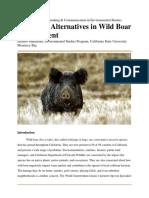 wild boar policy analysis enstu 300 fall 2018