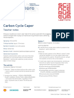 Carbon Cycle Caper Teacher Notes