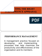 Selecting the Right Performance Appraisal