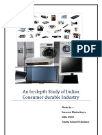 An in-Depth Study of Indian Consumer Durable Industry