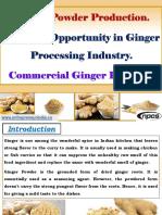 Ginger Powder Production