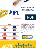 Indian Premier League 2019 Presentation - Youth Express