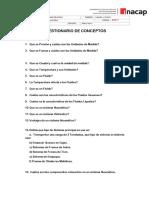 Cuestionario de Conceptos