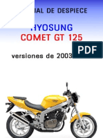 Manual Despiece Hyosung Comet Gt125