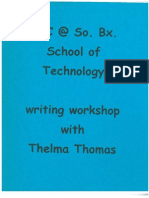 Writing Workshop with Thelma Thomas