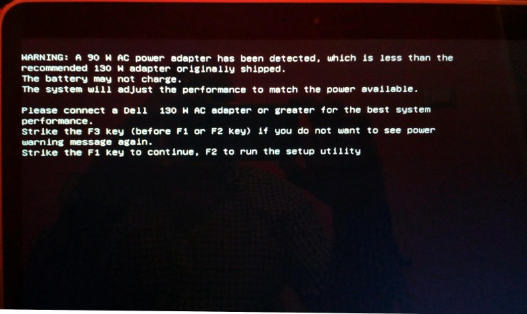 Dell Charger Error Message