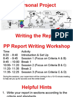 PP Report Writing Workshop (14.12.2018)