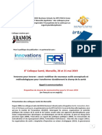 Colloque Sante Marseille 2019 Mai Appel a Communication
