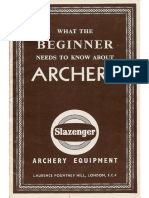 What the beginner needs to know about archery