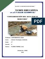 Contaminacion Del Agua Por Mercurio