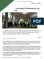 """""""Gilets jaunes"""" - une manif à Montmartre"""