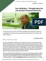 Truffaut, Céline, Hallyday... Plongée d...nirs épiques de Jean-François Stévenin