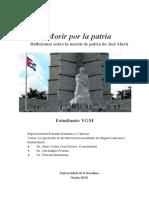 José Martí -Patria - Nación - Morir Por La Patria