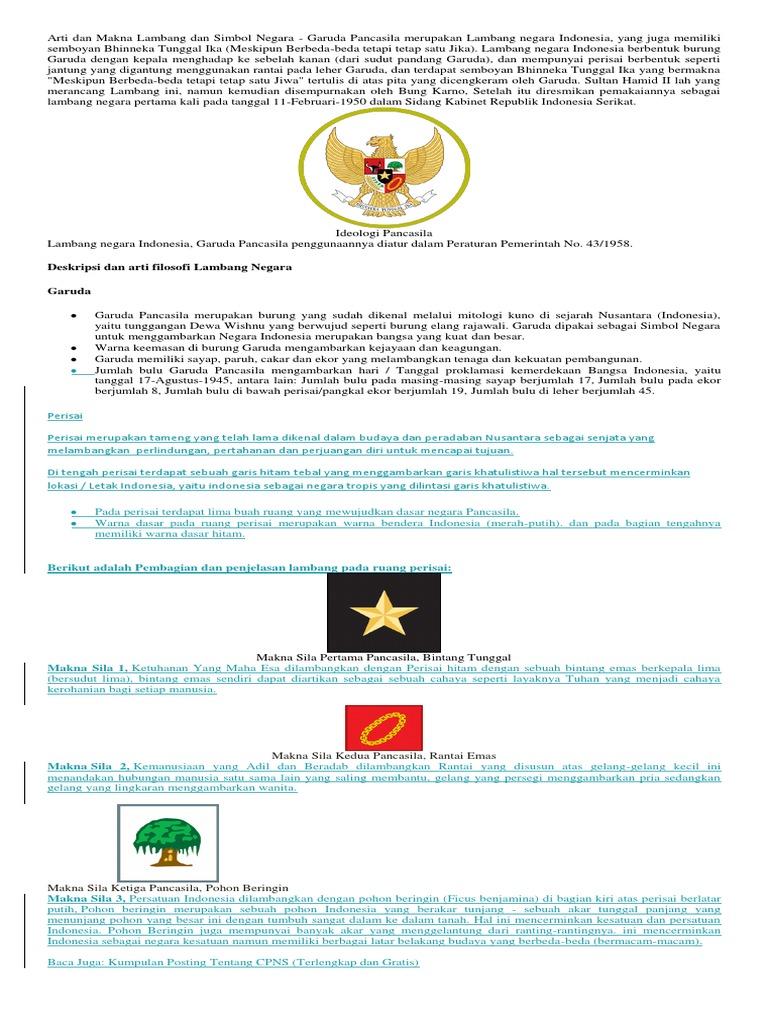 Arti Dan Makna Lambang Dan Simbol Negara Docx